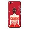 Ốp Lưng Dành Cho Oppo A83 Cô Gái Váy Đỏ Áo Xẻ Vai