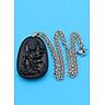Dây chuyền Phổ Hiền Bồ Tát - thạch anh đen 5cm DITTEN2 - dây inox - tuổi Thìn, Tỵ