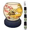 3 tinh dầu quế Eco 10ml và đèn xông tinh dầu MNB18 và 1 bóng đèn