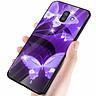 Ốp kính cường lực cho điện thoại Samsung Galaxy J8 - bướm đẹp MS ANH047