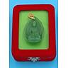 Mặt dây chuyền Dược Sư Lưu Ly Quang Vương Phật đá Obsidian xanh 4 cm MXDS9 kèm hộp nhung