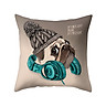 Cute Dog Animal Puppy Throw Pillow Case Cushion Cover Sofa Bed Car Office Decor