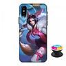 Ốp lưng nhựa dẻo dành cho iPhone XS in hình Liliana Hồ Quý Phi - Tặng Popsocket in logo iCase - Hàng Chính Hãng