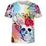 Fashion Skull 3D Printed T Shirt Plus Size S-3XL Men T Shirt New