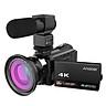 Máy Quay Video Kĩ Thuật Số Andoer WiFi (48MP 1080P 4K) - Kèm Micro + Lens Macro 0.39X