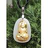 Dây chuyền Phật Bất Động Minh Vương Mặt Ngọc Nerphrite Mạ vàng 24K  Cho Nam Tuổi Dậu Mệnh Mộc TEN1