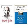 Combo Top Sách Kinh Tế Bán Chạy: Nhà Lãnh Đạo 360° + Sinh Ra Để Trở Thành Steve Jobs (Bộ 2 Cuốn/ Tặng Kèm Bookmark Green Life)