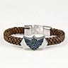 The Legend of Zelda Faux Leather Men Braided Wristband  Bracelet Jewelry Gift