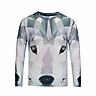 Men Long Sleeve T-shirt 3d Mosaic Wolf Printed Vocation T shirt Brand Tops Tees Plus Size M-3XL BL-444