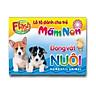 Combo 10 Hộp Flash card song ngữ Anh Việt - Lô tô cho trẻ mầm non - Chủ đề: Động vật nuôi