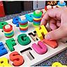 Bảng gỗ cho bé, bộ học đếm số và hình khối cột tính bậc thang giúp phát triển trí tuệ cho bé theo phương pháp giáo dục Montessori bằng đồ gỗ thông minh – Tặng Kèm Móc Khóa.