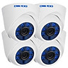 Bộ 4 Camera Hồng Ngoại Có Dây Đầu Cắm EU Owsoo (1500TVL) (720P)(1/4 Inch) (60ft)