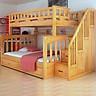 Giường Tầng Trẻ Em cao cấp A102, Trên 1m2, Dưới 1m4