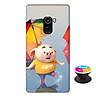 Ốp lưng nhựa dẻo dành cho Xiaomi Mi Mix 2 in hình Heo Con Tinh Nghịch - Tặng Popsocket in logo iCase - Hàng Chính Hãng