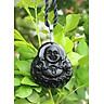 Mặt dây  Đá Núi Lửa Obsidian Phật Di Lặc  Cho Tuổi Thân Mệnh Thủy  Nhỏ  KOM1