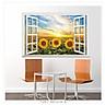 Decal dán tường nguyên miếng cửa sổ hoa mặt trời DLX0996