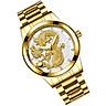 Đồng hồ thời trang nam đồng hồ nam rồng vàng chạm nổi 3D