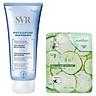Gel rửa mặt dành cho da nhạy cảm SVR Physiopure Gelee Moussante 200ml + Tặng kèm 1 mặt nạ dưỡng da Dưa leo 3W Clinic