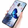 Ốp kính cường lực cho điện thoại Samsung Galaxy J8 - bướm đẹp MS ANH029