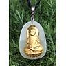 Dây chuyền Phật Bất Động Minh Vương Mặt Ngọc Nerphrite Mạ vàng 24K  Cho Nam Mệnh Mộc  TEN1