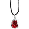 Tỳ Hưu Pha Lê Bọc Bạc Ngọc Quý Gemstones MD32 - Đỏ