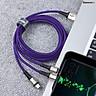 Cáp sạc và truyền dữ liệu siêu bền Baseus Caring Touch Selection 3 in 1 Cable ( USB Type A to USB Type C/ Micro USB/ Lightning 3.5A Fast Charging & Sync Data Cable) - Hàng chính hãng