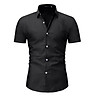 Casual Formal Slim Fit Shirt Top S M L Men's Short Sleeve Shirts