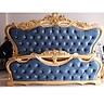 Giường ngủ cổ điển sơn nhũ đồng 9283