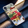 Ốp điện thoại kính cường lực cho máy iPhone XS MAX - giáng sinh đầm ấm MS GSDA022