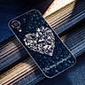 Ốp lưng cứng viền dẻo dành cho điện thoại iPhone X/XS - trái tim tình yêu MS LOVE081 - Hàng Chính Hãng