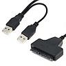 USB 2.0 to 2.5inch 22Pin 7+15 ATA SATA 2.0 HDD/SSD Adapter Converter Cable