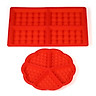 Grid Cake Silicone Mould Silicone Model Cake Mold Pudding Jelly Chocolate Mould Mold Tray Baking Tool Round + Rectangle