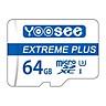Thẻ Nhớ Microsdxc Yoosee Extreme Plus 64GB UHS-I U3 4K R90MB/S W40MB/S (Trắng Xanh) - Hàng Chính Hãng