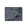 Ví Nam Da Cá Sấu Gù Chân Huy Hoàng HT2262 (12.5 x 10 cm) - Xám