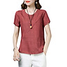 Sexy Women Casual Summer Tops Cotton T-Shirt O Neck Short Sleeve Slim Blouse