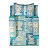 Bộ 4 Món Ga Gối Cho Bé Sleep Baby Light Blue Animals - F160