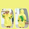 9i9 long love long children's raincoat kindergarten baby cartoon animal print poncho 1900210 powder deer L