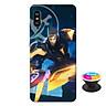 Ốp lưng nhựa dẻo dành cho Xiaomi Redmi Note 6 Pro in hình Nakroth Siêu Việt Bậc V - Tặng Popsocket in logo iCase - Hàng Chính Hãng
