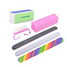 6pcs/lot Nail Manicure Kit Brush Durable Buffing Grit Sand Fing Art Accessories Sanding Nail Files UV Gel Polish Tools
