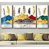 Bộ tranh phong cảnh hiện đại 3 bức UV trên giấy ảnh,bề mặt cán bóng gương ép trên nền gỗ MFC dày 9mm. MS D23129530