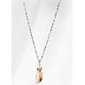 Dây Chuyền Bạc Mặt Hồ Ly 9 Đuôi Thạch Anh Tóc Vàng Ngọc Quý Gemstones