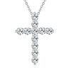 Women Fashion Shiny Zircon The Cross Pendant Long Necklace Link Chain Jewelry