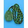 Vòng cổ Dược Sư Lưu Ly Quang Vương obsidian xanh 4 cm DHXDS9