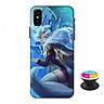 Ốp lưng nhựa dẻo dành cho iPhone XS in hình Liliana Cửu Vĩ Yêu Hồ - Tặng Popsocket in logo iCase - Hàng Chính Hãng