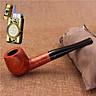 Combo Tẩu Thuốc Bằng Gỗ Rosewood Cao Cấp D-Brand 450 + Tặng Bật Lửa Khò Gas Kiêm Đồng Hồ Cầm Tay Cao Cấp (màu ngẫu nhiên)
