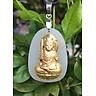 Dây chuyền Phong Thủy Mặt Ngọc Nerphrite  tự nhiên Phật Bất Động Minh Vương Nam Tuổi Dậu Mệnh Thổ AZU1