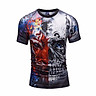 Skull and Lion T shirt Skeleton T-shirt Gun Tshirt Gothic shirts Punk Tee vintage rock t shirts 3d t-shirt BL-421