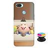 Ốp lưng nhựa dẻo dành cho Realme 2 Pro in hình Heo Con Nằm Hộp - Tặng Popsocket in logo iCase - Hàng Chính Hãng
