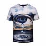 Men 3D T Shirt Short Sleeves O-Neck Tear Eye T-Shirt Water Printed Tee Shirts T-Shirts Clothes M-3XL BL-401