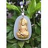 Mặt dây Ngọc Nerphrite Phật Bất Động Minh Vương Hộ Mệnh Nữ  Mệnh Mộc  YUM1